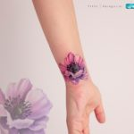 Flower Tattoo Cover Up on Wrist