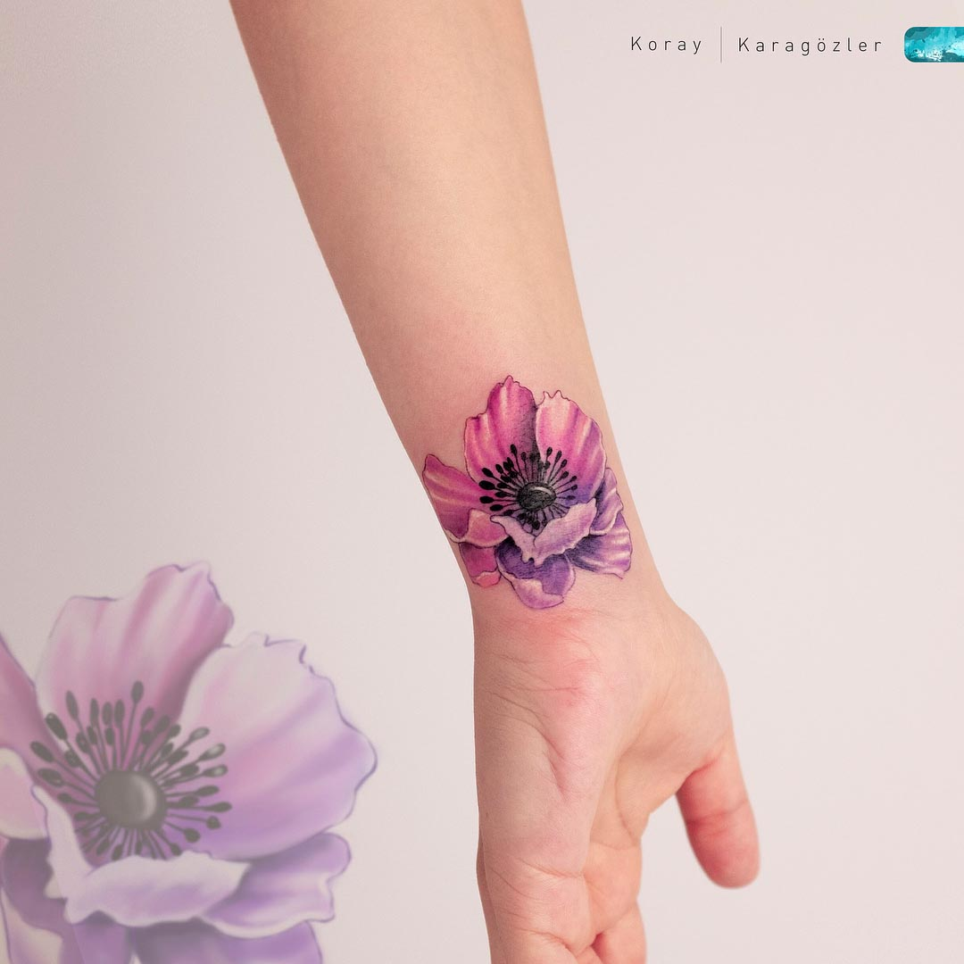 wrist tattoo cover up flower