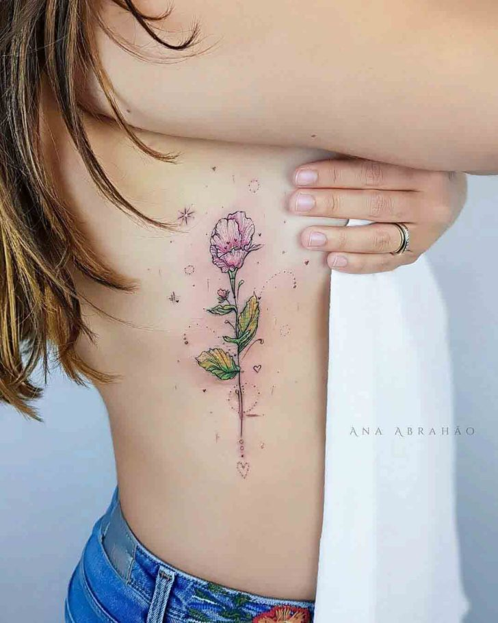 4088a9d06 Flower Tattoo on Ribs | Best Tattoo Ideas Gallery