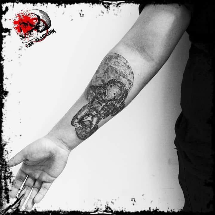 Forearm Astronaut Tattoo