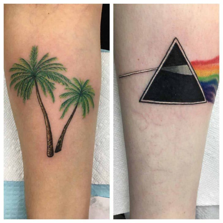 Forearm Palm Trees Tattoo