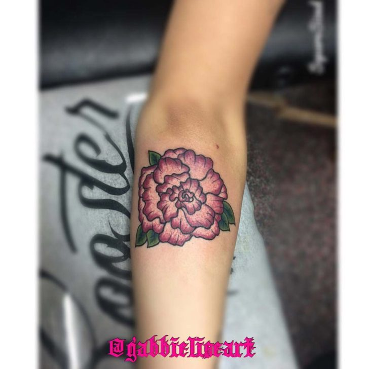 Forearm Tattoo Carnation