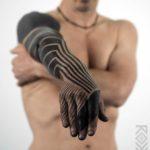 Full Arm Blackwork Tattoo Sleeve