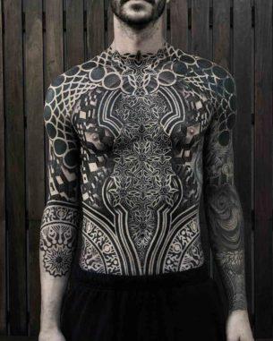 Full Body Ornamental Dotwork Tattoo