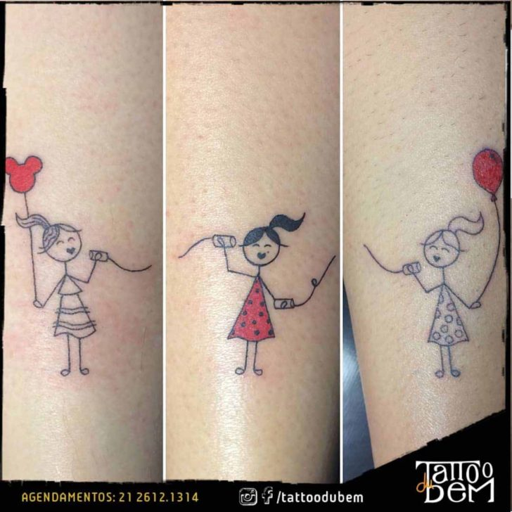 Matching sisters tattoos best tattoo ideas gallery for Funny sister tattoos
