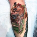Groundhog Tattoo New School