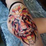 Lion Tattoo on Hip