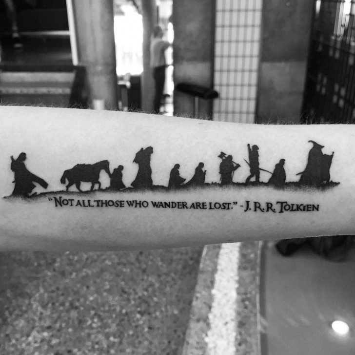forearm tattoo lord of the rings