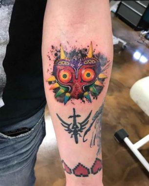 Majora Mask Tattoo of Zelda