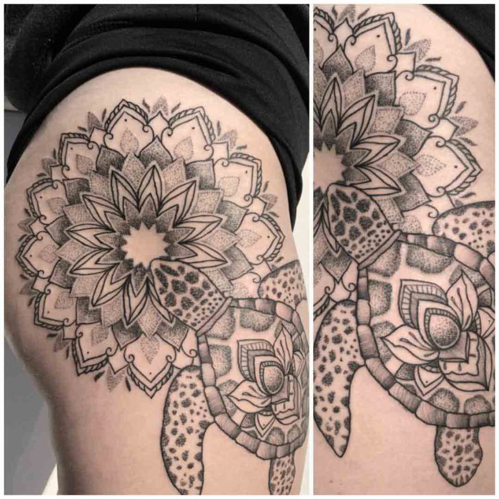 Mandala Sea Turtle Tattoo