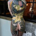 Mermaid Tattoo on Full Back