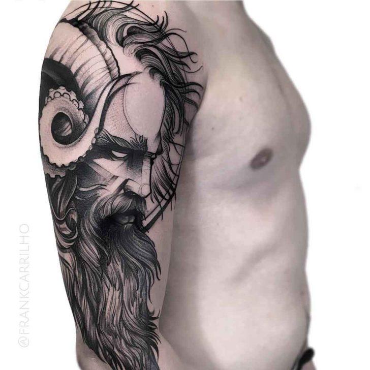 poseidon tattoo on shoulder best tattoo ideas gallery. Black Bedroom Furniture Sets. Home Design Ideas