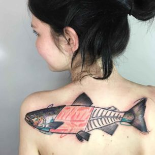 Salmon Tattoo