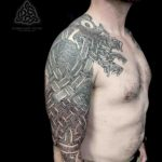 Saxon Tattoo Sleeve on Shoulder