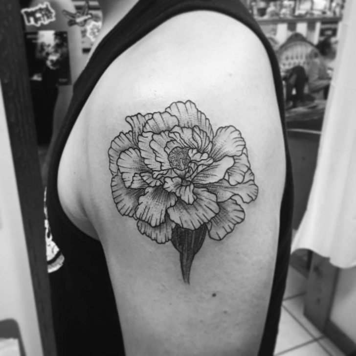 Shoulder Tattoo Carnation Flower
