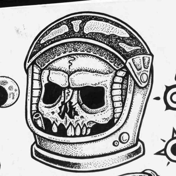 Skull Astronaut Tattoo
