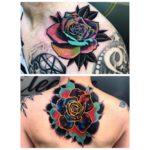 Space Rose Tattoos