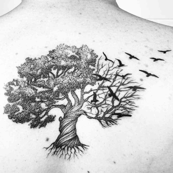 Tree of Life Tattoo With Crows