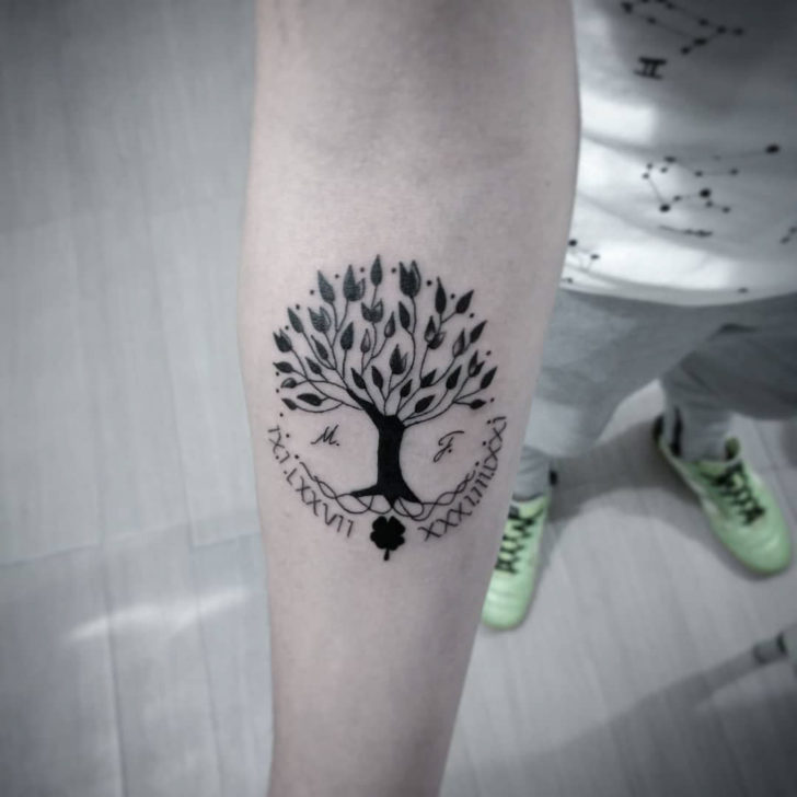 Tree of Life Tattoo and Clover