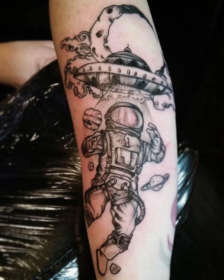 UFO Astronaut Tattoo
