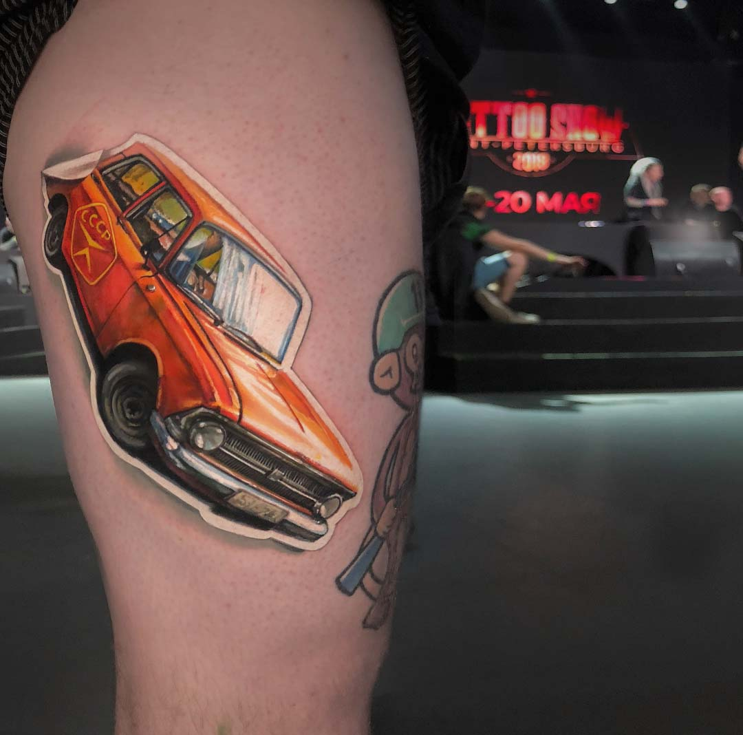 car tattoo USSR