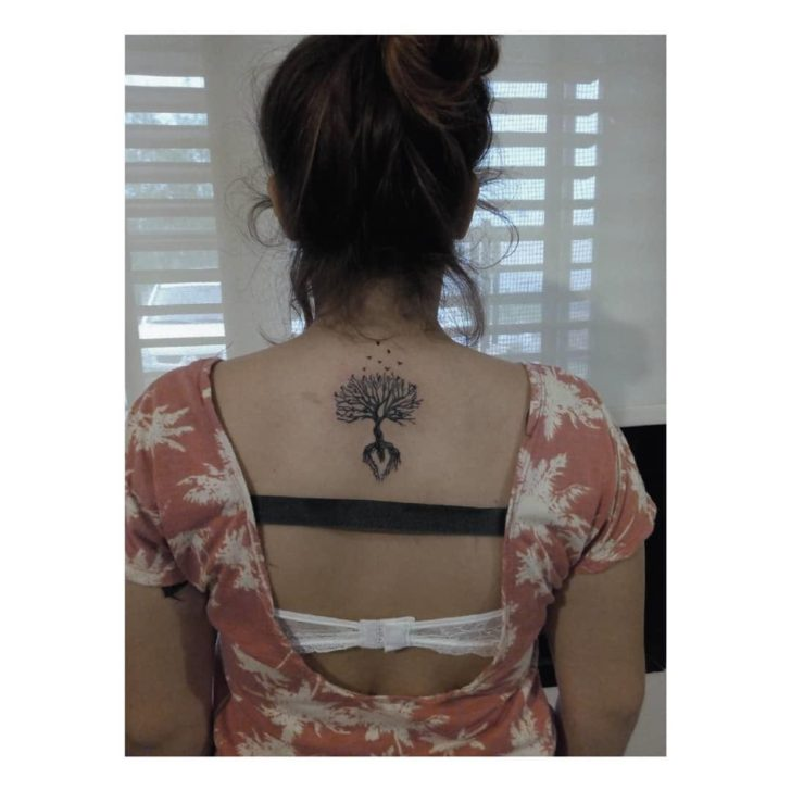 Upper Back Tree of LIfe Tattoo