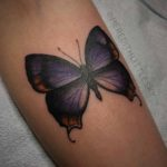 Violet Butterfly Tattoo