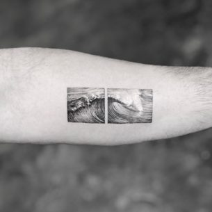 Wave Tattoo Picture