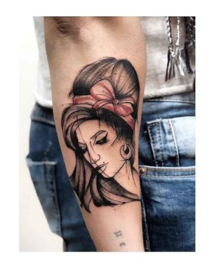 Amy Winehouse Tattoo on Arm