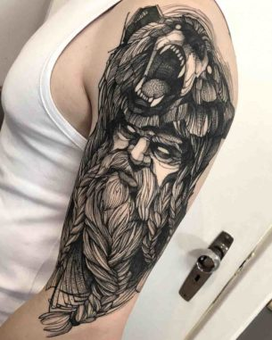 Berserker Tattoo on Shoulder