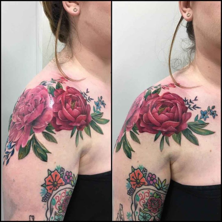 Big Shoulder Rose Tattoo