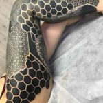 Blackwork Pattern Leg Sleeve Tattoo