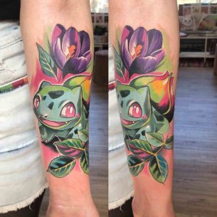 Bulbasuar Tattoo Pokemon