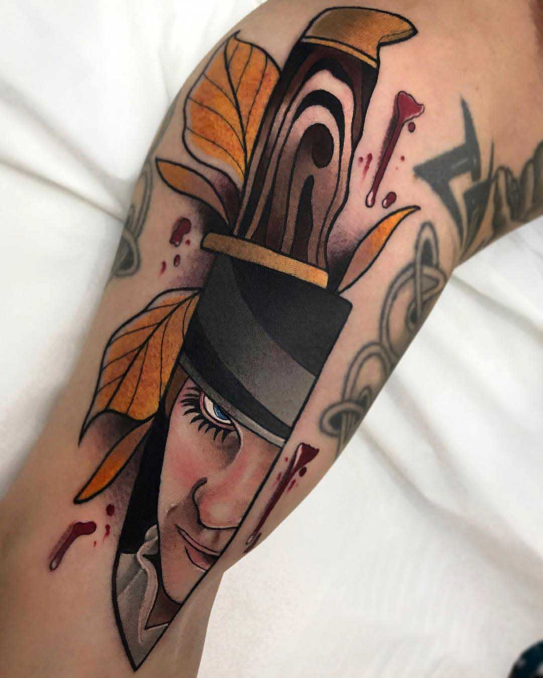 knife clockwork orange tattoo