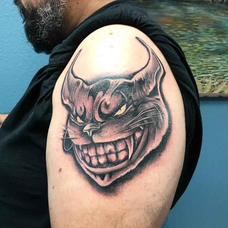 Demon Cheshire Cat Tattoo