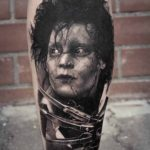 Grey Edward Scissorhands Tattoo