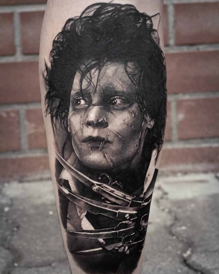 Jhonny Depp tattoo Edward