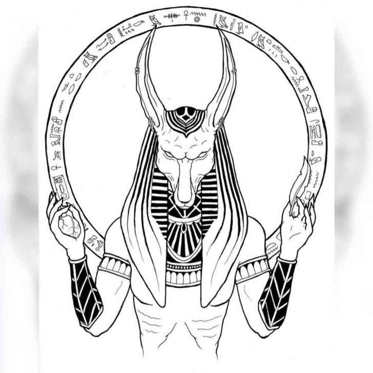 Egyptian Anubis Tattoo Design