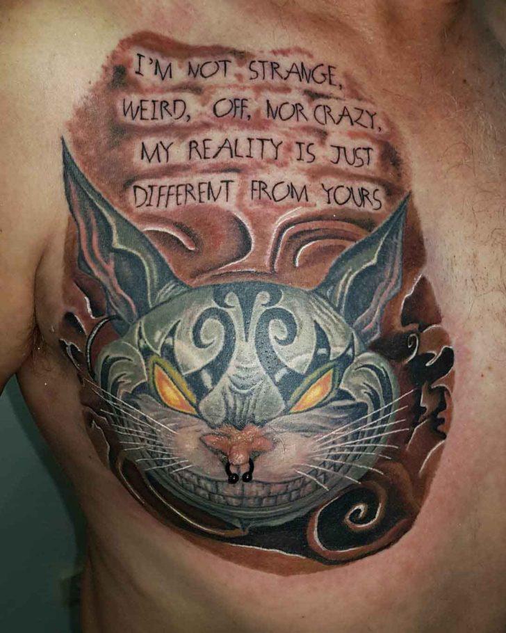 Evil Cheshire Cat Tattoo