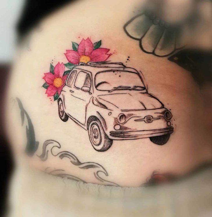 car tattoo fiat 500