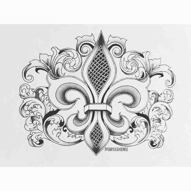Fleur De Lis Tattoo Design