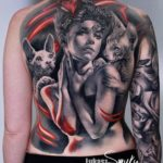 Full Back Sphynx Tattoo