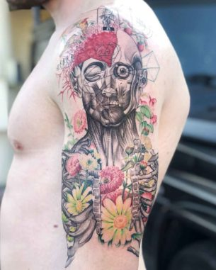 Human Body Tattoo on Shoulder