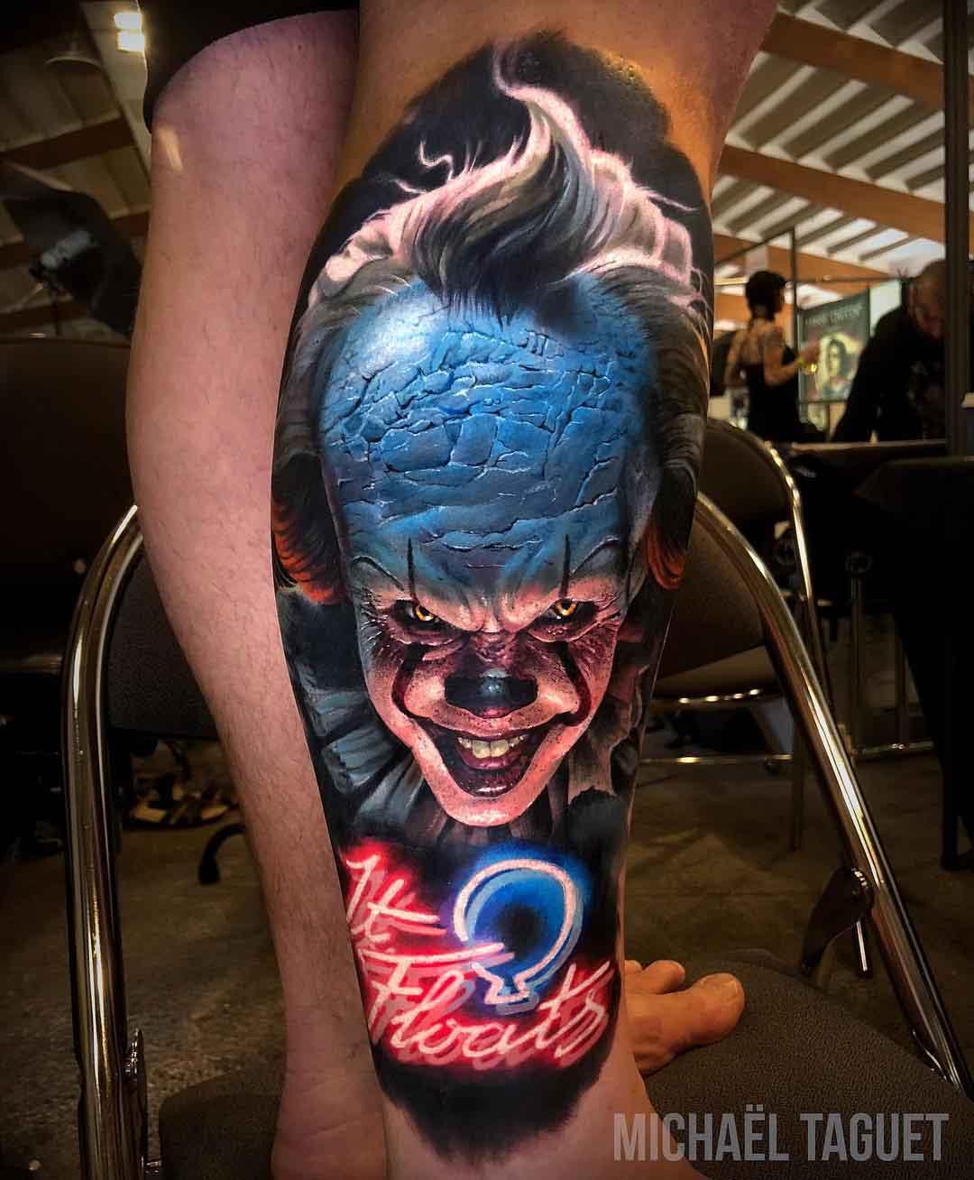 calf tattoo IT