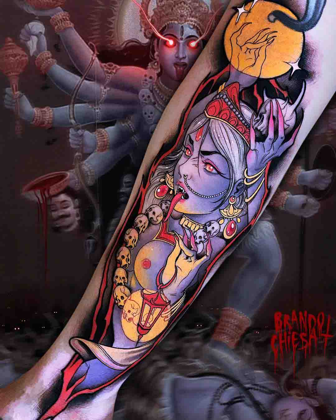 arm tattoo Kali