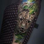 Leopard Tattoo on Shoulder