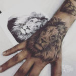 Lion Tattoo on Hand