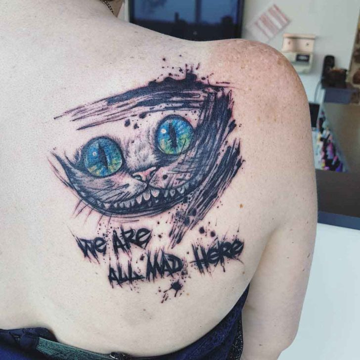 Mad Cheshire Cat Tattoo