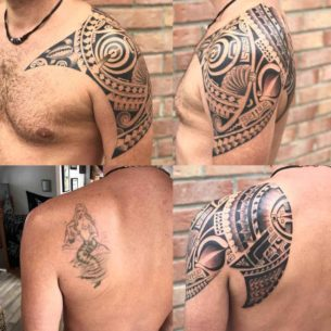 Maori Tattoo Cover Up