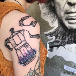 Moka Pot Tattoo